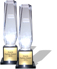 "Die Oracle Datenbank Experten - ""Partner of the Year Award 2011 u. 2012"""
