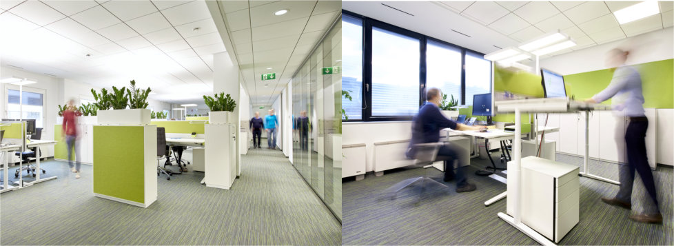 Moderne, ergonomische Arbeitsplätze bei DBConcepts