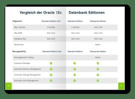 Oracle Lizenz Pocket Guide Auflistung der Features der Oracle Datenbank Editionen