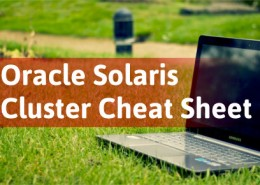 Oracle Solaris Cluster Cheat Sheet