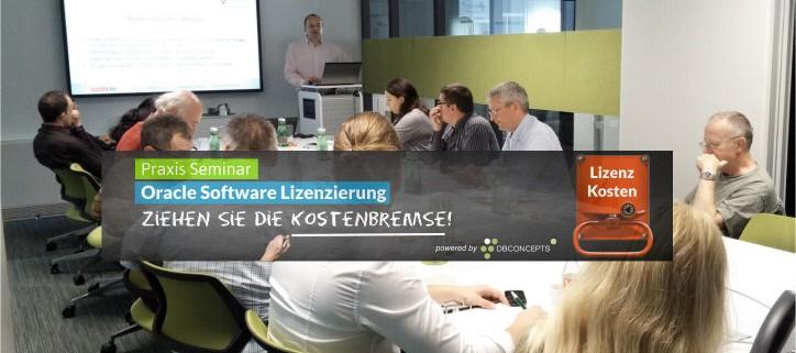 Oracle Lizenzierung Seminar Eindruck