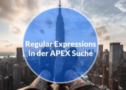 Regular Expression in APEX Suche