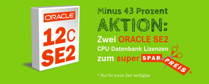 Oracle 12c Standard Edition Two Aktion