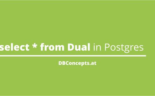 Select * from dual in postgresql