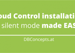 Cloud Control installation in silent mode made EASY