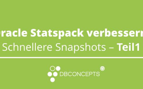 Oracle Statspack verbessern: Schnellere Snapshots – Teil1
